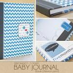 Baby Book - Blue Chevron (1..